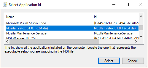 Wizard Pages - MSI Wrapper - Create MSI package from exe
